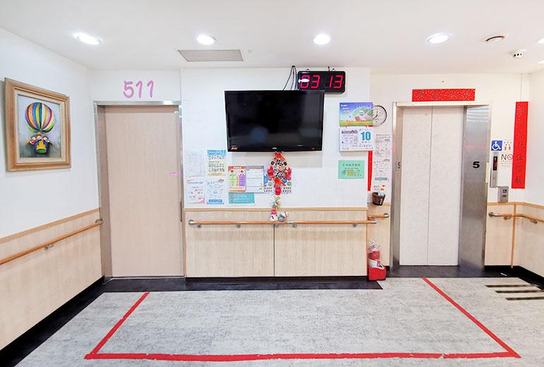 台北市私立永安老人養護所-電梯口