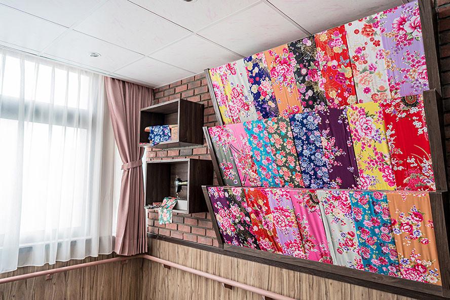 和安住宿長照機構-三樓主題「阿嬤的花布店」